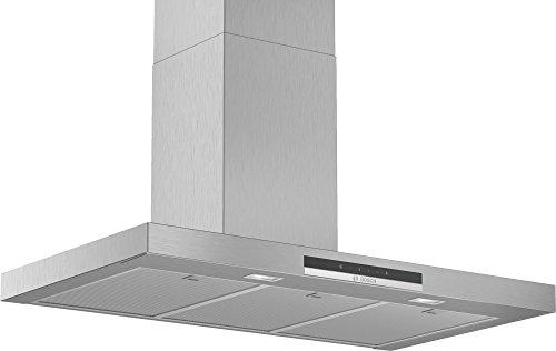 Bosch Serie 4 DWB96IM50 hotte 580 m³/h Monté au mur Acier inoxydable A - Hottes (580 m³/h, Conduit, A, A, D, 60 dB)