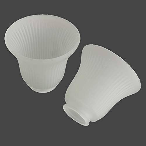 2 Pack Frosted Glass Light Shade Replacement Bell Shaped Glass Lamp shade Light Cover Light product image
