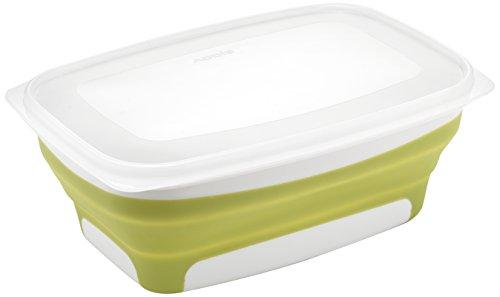 Addis Pop & Faltbare Fresh Food Container, groß rechteckig, 1,7Liter, grün & weiß