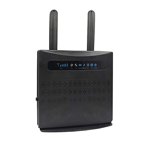 Yeacomm 4G LTE CPE Router 3G 4G Wireless Router with Sim Card Slot, 4G Wi-Fi Hotspot with 4 RJ45 Port and 2 RJ11 Port for Home/Office (2 Antenna), Voice Volte Support