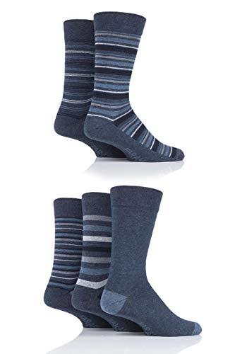 FARAH® Herren Streifen Socken Packung mit 5 Denim/Blaugrün 39-45