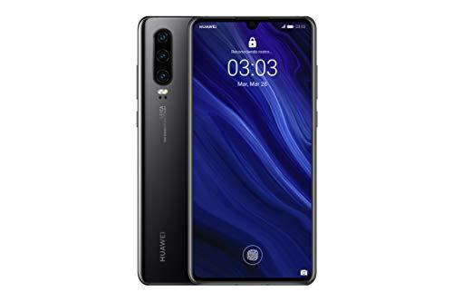 Huawei P30 - Smartphone de 6.1' (Kirin 980 Octa-Core de 2.6GHz, RAM de 6 GB, Memoria interna de 128 GB, cámara de 40 MP, Android) Color Negro [Versión española]