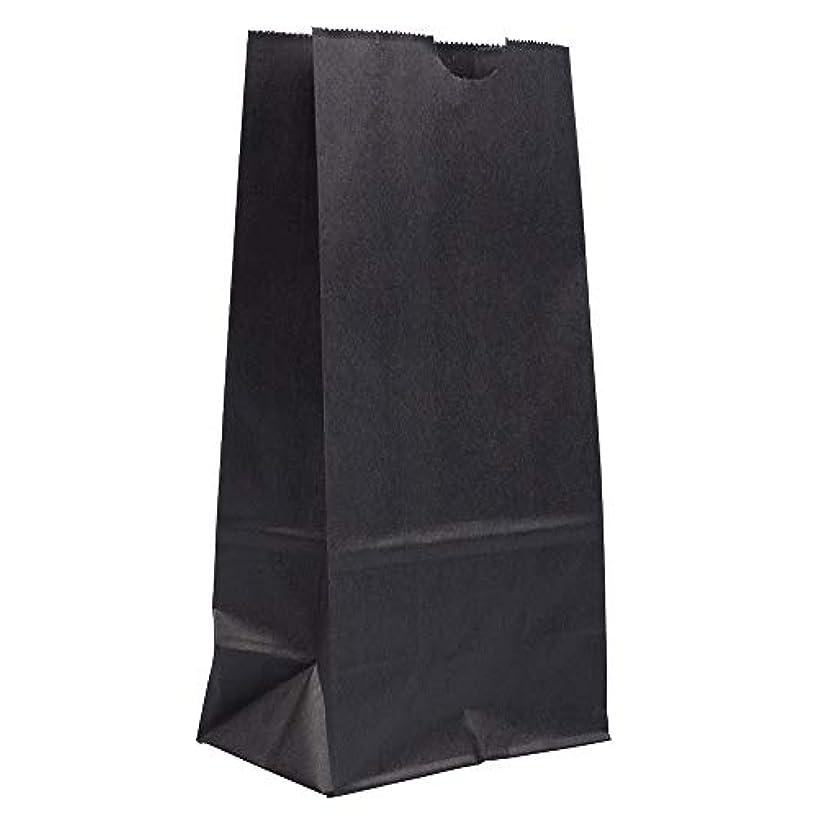 JAM PAPER Lunch Bags - Medium - 5 x 9 3/4 x 3 - Black Kraft - 25/Pack