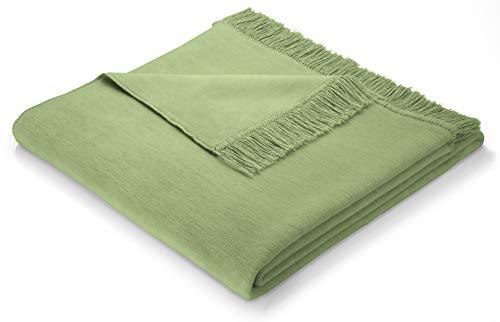 biederlack Sofa 100x200 cm I Sesselschoner papagei I Sofaschoner in grün I 60% Baumwolle, 40% dralon I Made in Germany