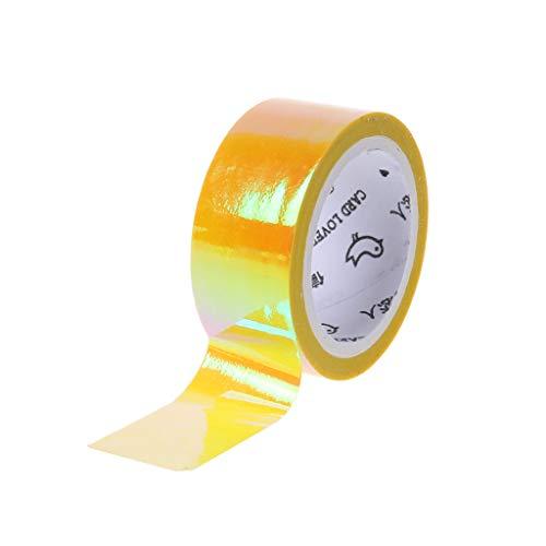 JERKKY Rhythmische Gymnastik Dekoration Holographic Prismatic Glitter Tape Hoops Stick Sport Zubehör Gelb