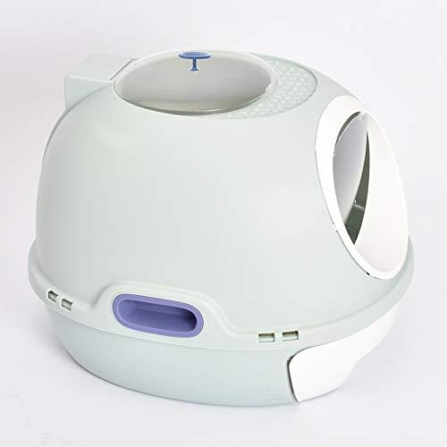 CWBB Geschlossene Deodorant-Selbstreinigende Kunststoff-Haustier-Toilette, Katzen-Toiletten-Kasten/Katzentoilette, Katzenklo,Blue Without Skylight