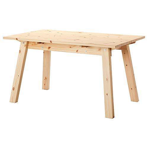 IKEA Esstisch INDUSTRIELL handgefertigter, massiver Holztisch in 135x80cm - 74cm hoch - für 4-6 Personen - klar lackierte Kiefer