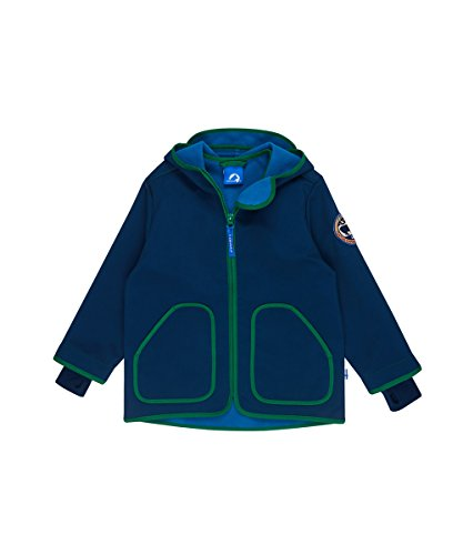 FINKID Jungen Softshelljacke VELI SHELL 3023079 in blau (poseidon/leaf 145312), Kleidergröße:100/110;Farbe:blau (poseidon/leaf 145312)