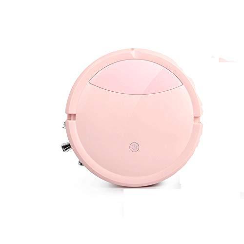 Ys-s Shop-Anpassung Smart Kehr Roboter nach Hause automatischer USB-Lade 3-in-1 Fegen, Saugen und Wischen, Ultra-leise, geeignet for Holzböden, Teppiche, Fliesen, Haustierhaarpflege (Color : Pink)