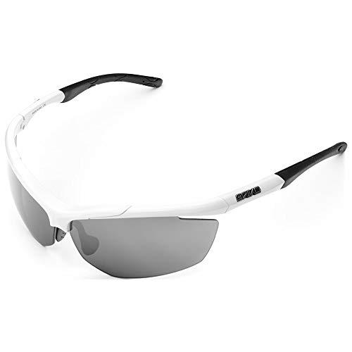 Briko Trident anteojos para Hombre, Hombre, 2001JE0, G39 White -SM3, tamaño único