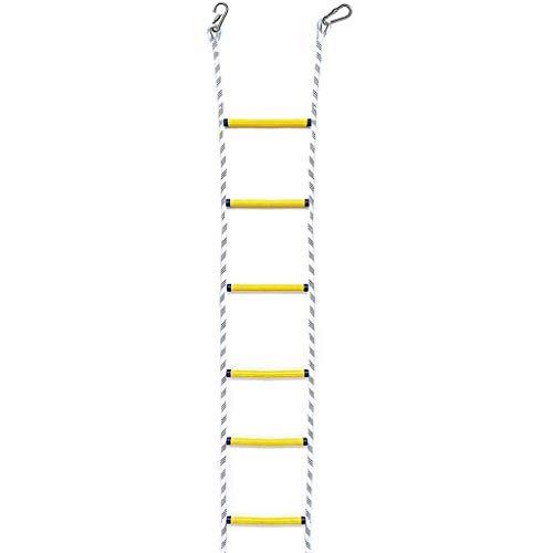Échelle en corde en polyester antidérapante, facile à déployer, convient pour l'évacuation d'urgence, l'évasion haute, le travail aérien, l'évasion d'incendie (taille : 30 m), 5m/16ft