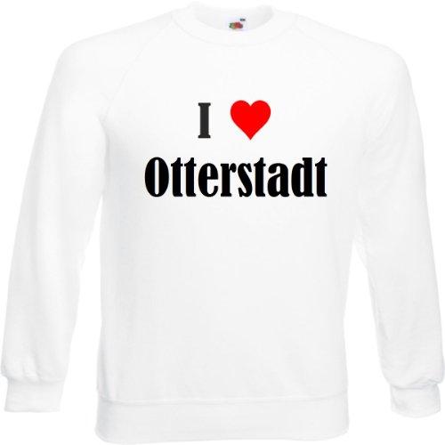 Reifen-Markt Sweatshirt I Love Otterstadt Größe 2XL Farbe Weiss Druck Schwarz