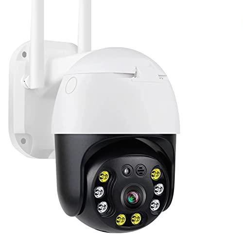 ZJ Cámara De Seguridad para El Hogar WiFi 1080P Cámara De Vigilancia para Exteriores Cámara De Rotación PTZ Cámara HD Cámara IP para Exteriores P2P IP66 A Prueba De Agua(Color:64G RAM)