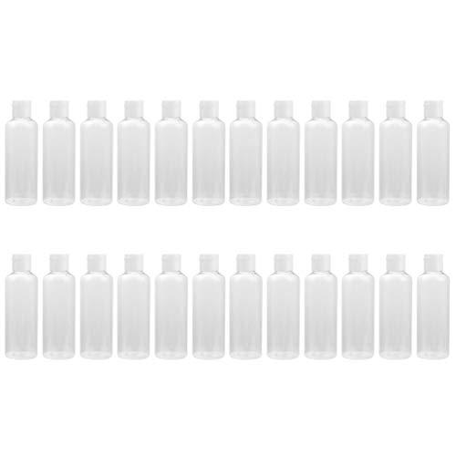 Beaupretty 24 Piezas 50 Ml Botellas Vacías Dispensadores de Loción Rellenables de Plástico con Tapa Flip Botellas de Crema Contenedor de Cosméticos Botellas de Tóner para El Hogar Y Los Viajes