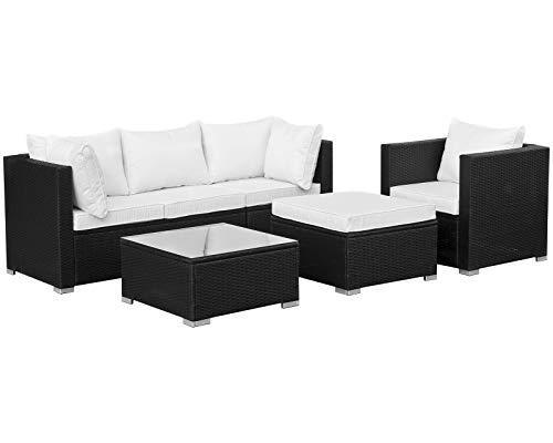 Hansson Polyrattan Lounge Sitzgruppe Gartenmöbel Garnitur Poly Rattan 4 Sitzplätze