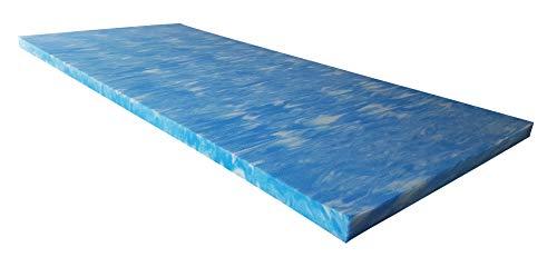 snoozo GELAX® | Atmungsaktiver Gel-Schaum Topper Matratzenauflage | Ohne Bezug | RG 50 | 5 cm Gesamthöhe | Alle Zuschnitte und Größen möglich | Qualität Made in Germany (90 x 200 cm)