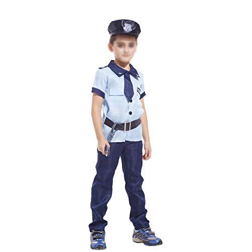 KIDsportxie Disfraz de polica para nios de polica de polica y polica constante, vestido para la polica de Navidad (110 ~ 120 cm)