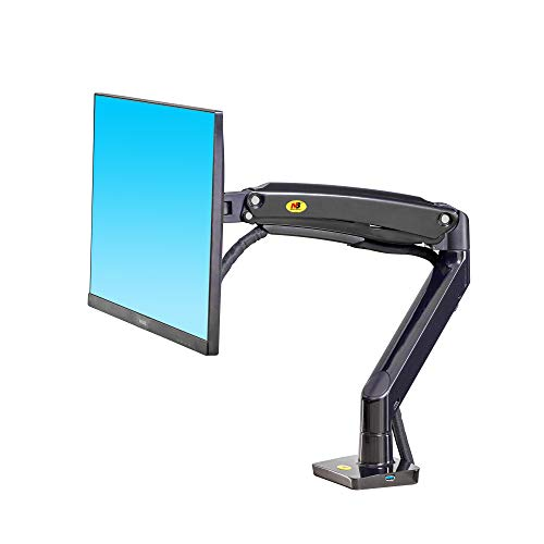 NB North Bayou Monitor Desk Mount Ultra Wide Full Motion Swivel Long Arm with Gas Spring for 22''-35''Monitors from 6.6 to 26.4lbs Height Adjustable Monitor Stand F100A-B