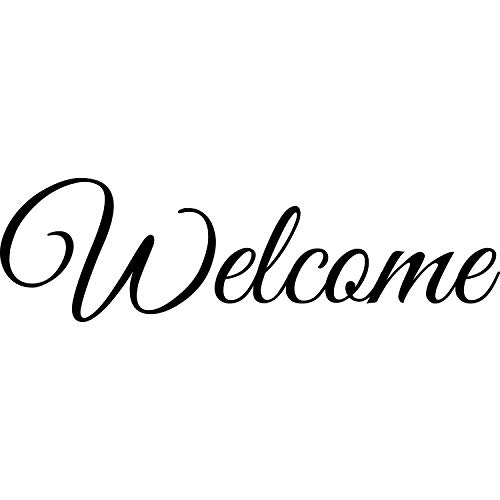 My Vinyl Story - Welcome - Wall Decals for Door Family Decal Quote Word Sayings Sticker Sign Family Decor Removable Vinyl for Office Front Door Home 20x6 Inches