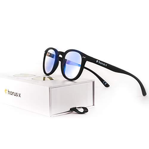 Horus X - Occhiali da Riposo Anti Luce Blu CASUAL - Occhiali con Filtro Blu e Protezione UV (Schermi di Computer, PC, Tablet, Smartphone) - Per Uomo e Donna (Unisex)