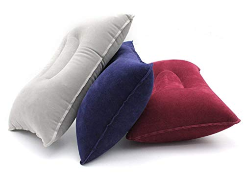 LayDUS 3pcs Ultralight Inflatable Pillow Small Squared PVC Fabric Air Pillow Set for Camping & Travelling