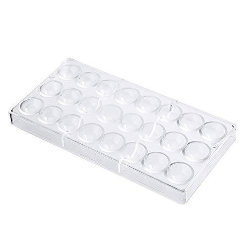TOOGOO 24 Hoyos Semi Esfera Molde De Chocolate Policarbonato Barra De Chocolate Molde Media Bola Fabricante De Dulces Molde para Hornear