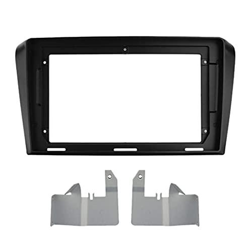 GAOLIHG - Mascherina per autoradio per Mazda 3 Axela 2004-2009 9 pollici 2 DIN DVD Stereo Panel Dashboard Refitting Telaio di installazione (nero)