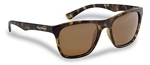 Flying Fisherman Fowey Polarized Sunglasses with AcuTint UV Blocker for Fishing and Outdoor Sports, Tortoise Frames/Amber Lenses
