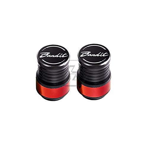 CONGCASE Accesorios de la Motocicleta Caja de Las Tapas de la válvula de la válvula del neumático para Suzuki Bandit 150 1200 1250 (Color : Red)
