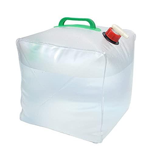 Bidón de Agua Plegable, Bolsa de Agua Potable Portátil Depósito de Agua Contenedores con Grifo Recipiente de Agua para Camping, Senderismo, Escalada u Otras Actividades al Aire Libre - 20 L