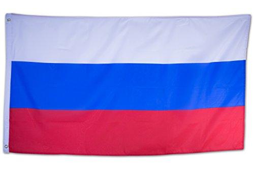 SCAMODA Bundes- und Länderflagge aus wetterfestem Material mit Metallösen (Russland) 150x90cm