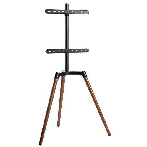 EasyLife – Soporte de trípode para televisor, hasta 65 pulgadas y máx. Soporte para televisor o monitor de 35 kg, orientable 140°, altura regulable, incluye gestión de cables, VESA hasta 400 x 400