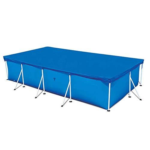 Your's Bath Cubierta para piscina de tela de poliéster rectangular y redonda, cubierta antipolvo para piscina, lona impermeable para piscina (300 x 200 cm, rectangular)