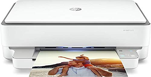 HP Envy 6020 Stampante Multifunzione (inchiostro istantaneo, stampante, scanner, fotocopiatrice, WLAN, Airprint), 6 Mesi di Instant Ink Inclusi nel prezzo, bianco