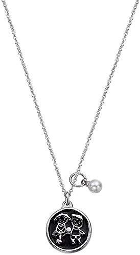 Aluyouqi Co.,ltd Collar Collar Collar Moda Collar De Acero De Titanio Figura De Moda Colgante Tallado Adecuado para Usar con Cualquier Ropa para Mujeres Hombres Regalo