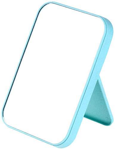 Högupplöst roterbar spegel, kosmetisk spegel, bärbar skrivbordsskiva, prinsessaspegel, enkel stor påklädningsspegel (färg: rosa)