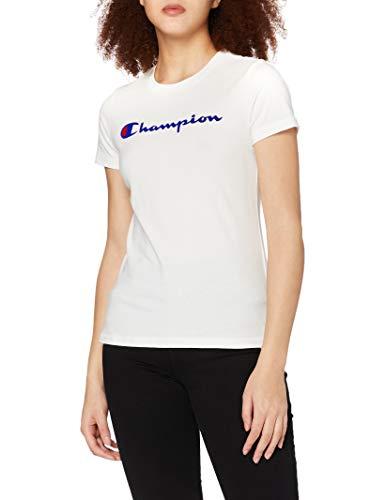 Champion Femme - T-Shirt Classic Logo - Blanc, M