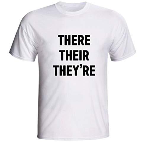 Camiseta There Their They're Gramática Inglês