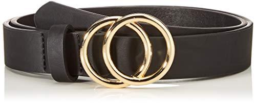 Only Onlrasmi PU Jeans Belt Noos Cinturón, Black/Detail: Black/Gold Buckle, 80 para Mujer