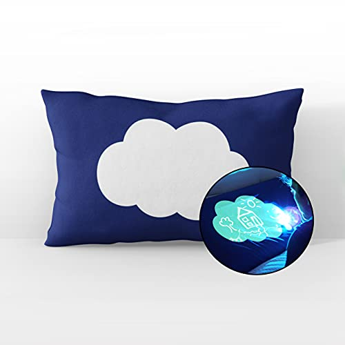 Illuminated Apparel Glow Sketch Interactive Glow in The Dark Pillowcase (Dream Cloud)