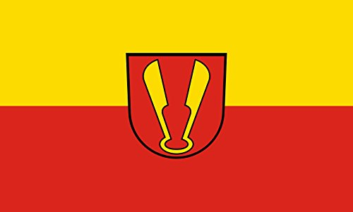 Unbekannt magFlags Tisch-Fahne/Tisch-Flagge: Ispringen 15x25cm inkl. Tisch-Ständer