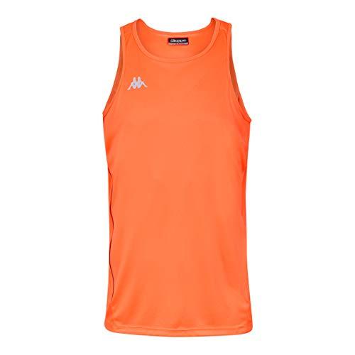 Kappa Fanto Top Running, Hombre, Naranja Fluor, XL