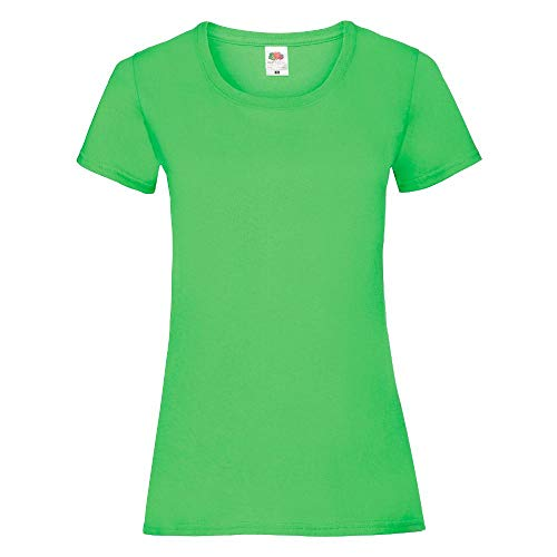 Fruit of the Loom - Lady-Fit T-Shirt 'Valueweight T' / Lime Green, S