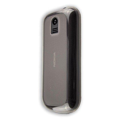 caseroxx TPU-Custodia per Nokia 130 (2017), Guaina (TPU-Custodia in nero-transparente)