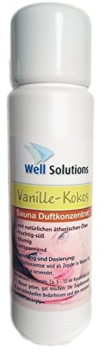 Preisvergleich Produktbild Well Solutions Sauna Aufguss Konzentrat 100 ml / aus rein ätherischen Öle / Made in Germany / Duftrichtung Vanille-Kokos