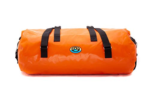 wasserdichter Dry Seesack 90/120/150/200 Liter für Kajakfahren, Rafting, Bootfahren, Angeln und andere Abenteuer (Orange, 90)