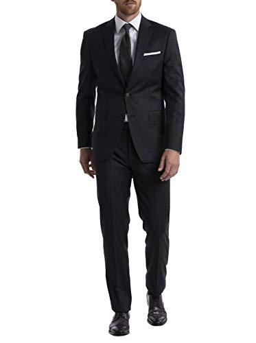 Calvin Klein Men's Slim Fit Stretch Suit, Charcoal, 48 Long