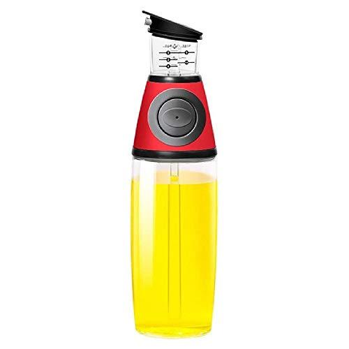 Botella de control de aceite de dosificación, utensilios de cocina, medición de aceite, tipo de prensado, botella de aceite de medición