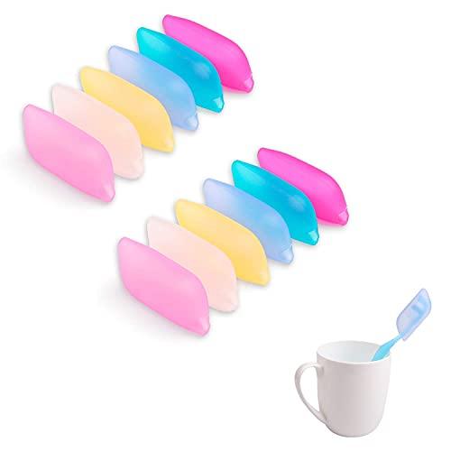Funda de cepillo de dientes Cubierta de viaje, estuche protector del cepillo de dientes, taza de caja de cepillo de dientes, cubiertas de titulares de cepillos de dientes de silicona, titular del cepi