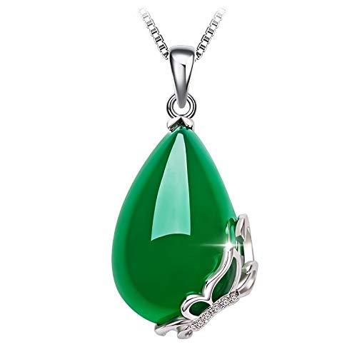 DODO.GOGO s925 Reine Silber natürliche grüne Jade Schmetterling Anhänger Mode Temperament chinesischen Wind grün Halskette Schmuck